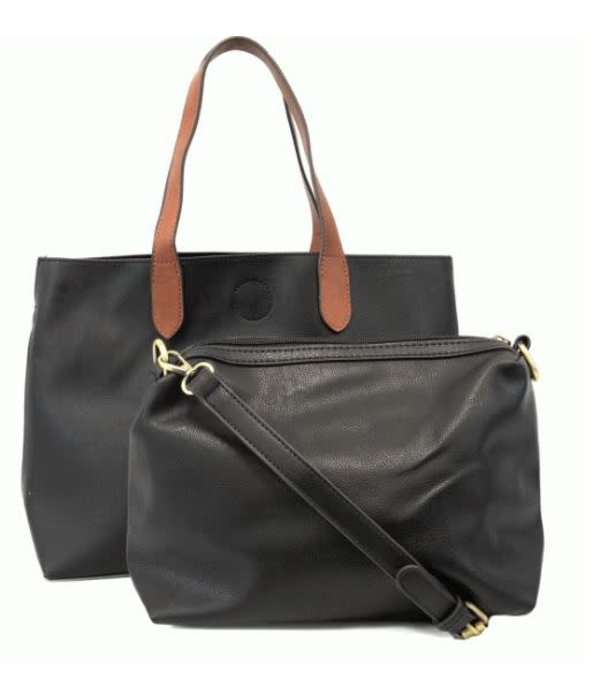 Mariah Handbag Black/Cedar