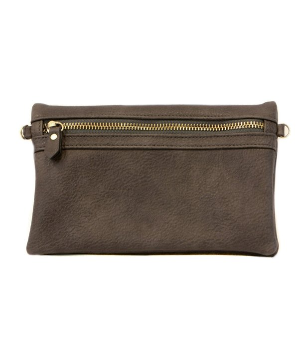 Kate Crossbody Clutch- Charcoal