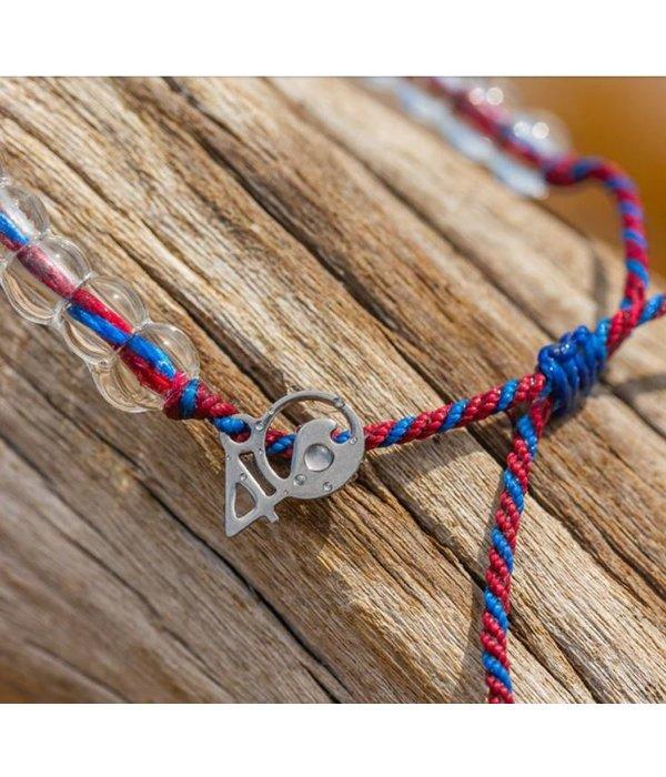 4Ocean 4Ocean Bracelet- Seahorse Maroon/Blue