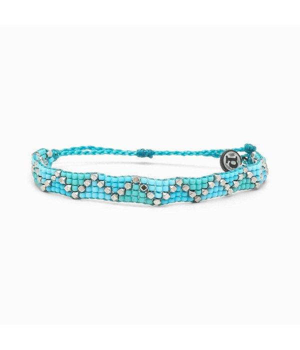 Pura Vida Puravida- Metal Woven Blue Bracelet