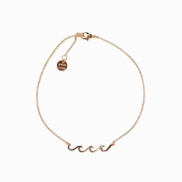 Puravida Wave Anklet-Rose Gold