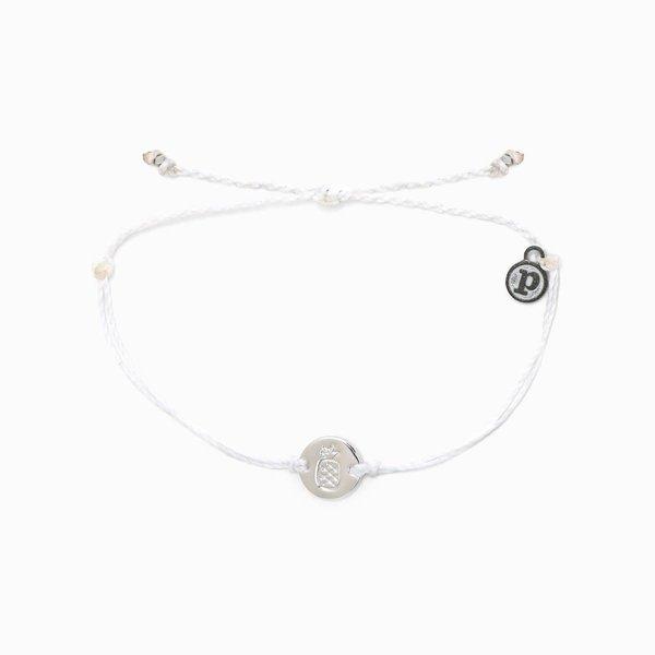 Puravida Silver Pineapple Coin Bracelet