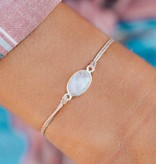 Pura Vida Puravida Bracelet- Moon Stone Tan