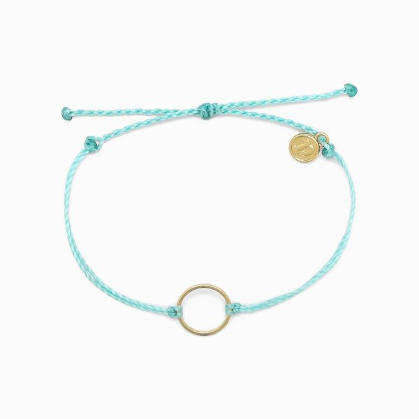 Puravida Gold Circle Charm Bracelet