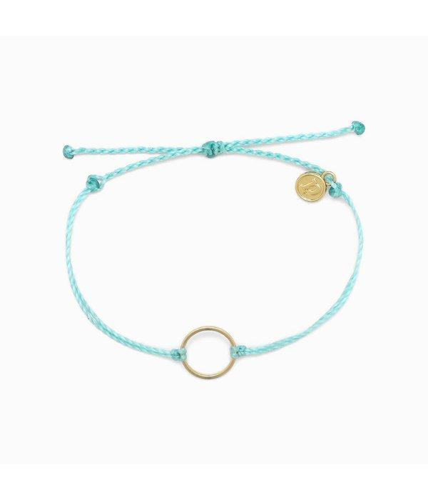 Pura Vida Puravida Bracelet- Circle Charm Mint