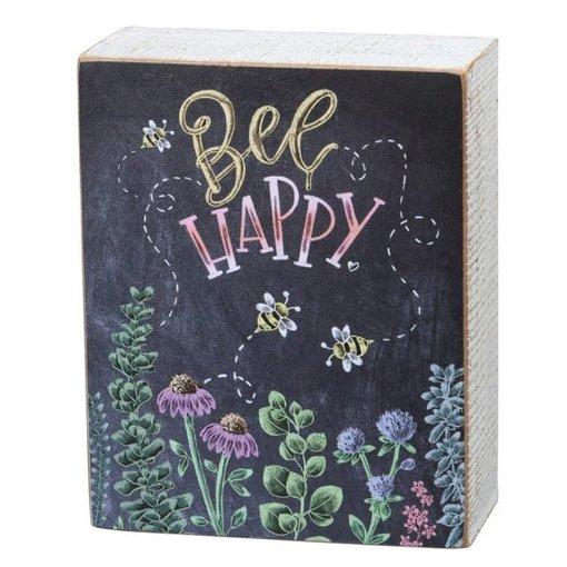 Primitives Bee Happy Sign