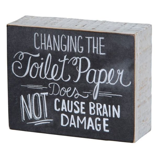 Changing The Toilet Paper Sign