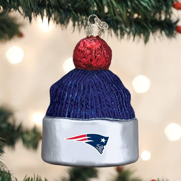 New England Patriots Beanie Ornament