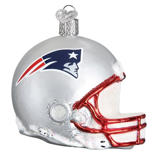 NE Pats Helmet Ornament