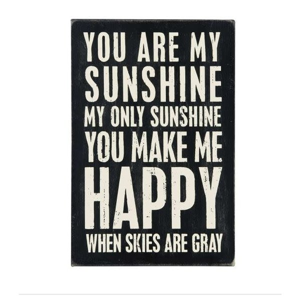 You Are My Sunshine Wood Postcard