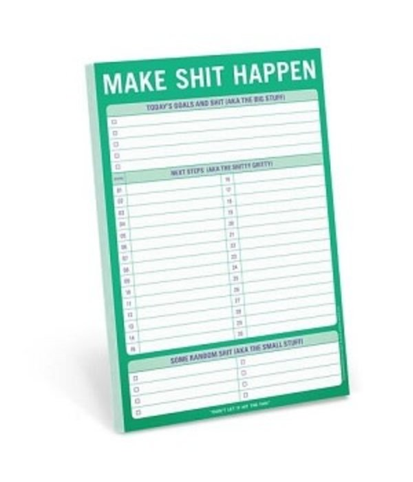 Knock Knock- Make Shit Happen Notepad
