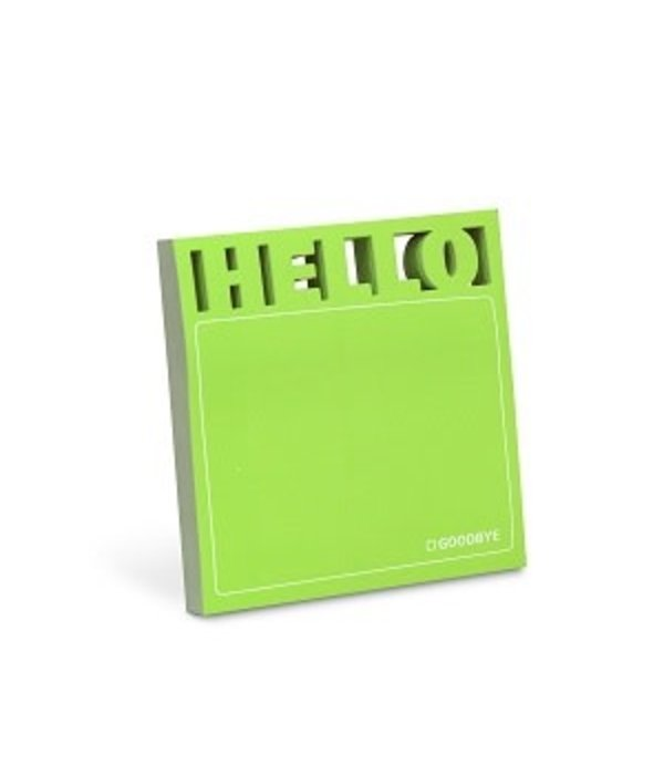 Die Cut Sticky Notes- Hello