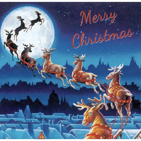 Santa's Sleigh Pop-Up Card