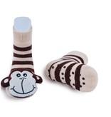 Monkey Rattle Socks