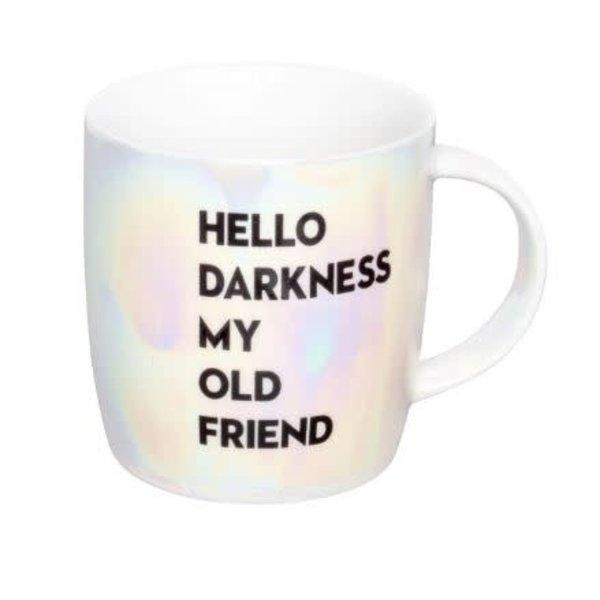 Iridescent Hello Darkness Mug