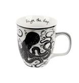 Black and White Octopus Mug