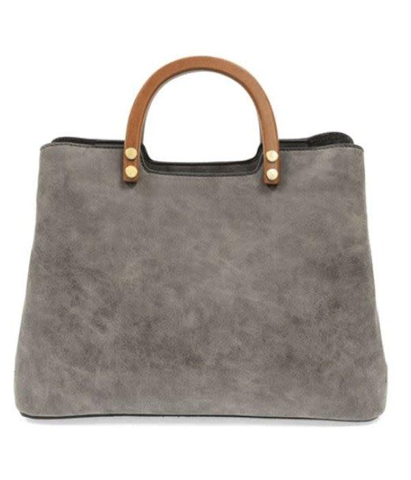 Angie Vintage Satchel- Grey
