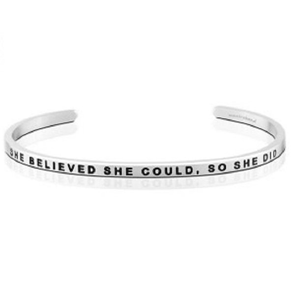 She Believed She Could Bracelet