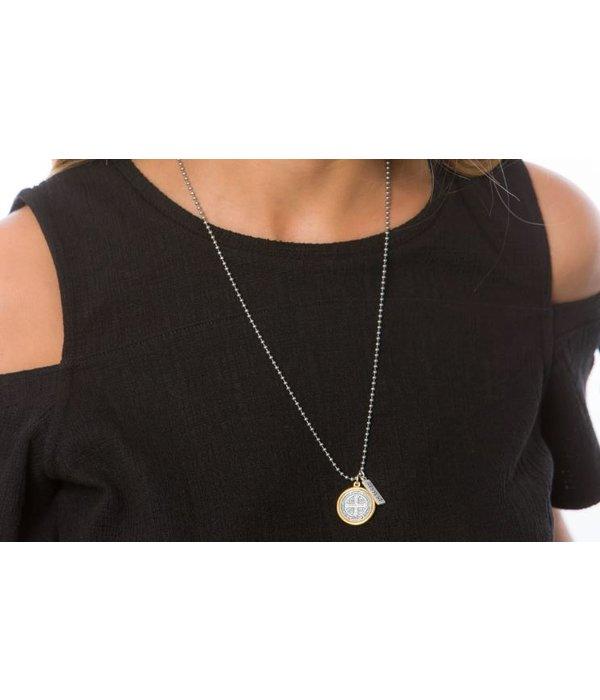 My Saint My Hero- Benedictine Blessing Necklace