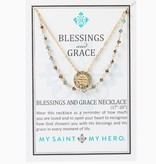 My Saint My Hero- Blessings and Grace Necklace