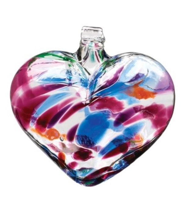 Kitras Glass Kitras- 3in Heart Glass Ornament