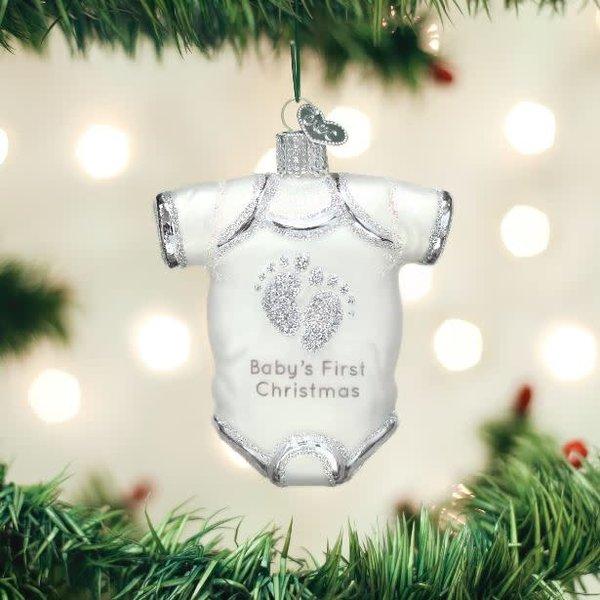 White Baby Onesie Ornament