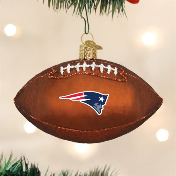 NE Pats Football Ornament