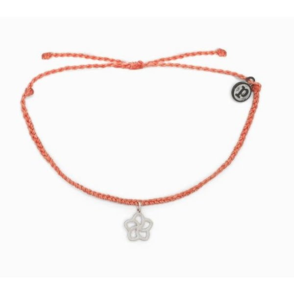 Pura Vida Bitty Plumeria Rose Gold blush Bracelet