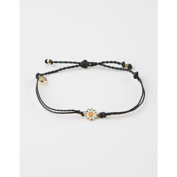 Pura Vida Charm daisy Gold black Bracelet