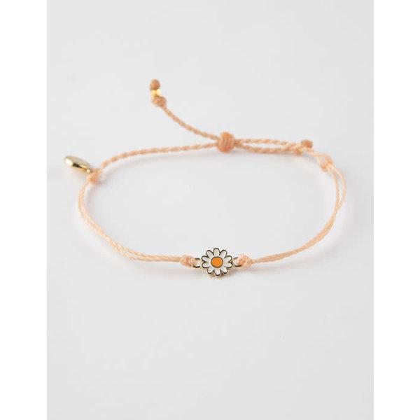 Pura Vida Charm daisy Gold blush Bracelet