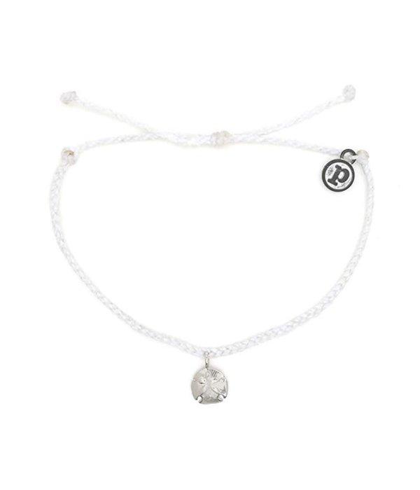 Pura Vida Charm Silver sand dollar white Bracelet by Pura Vida