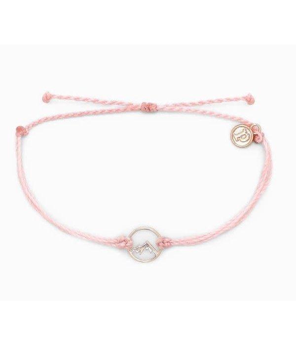 Pura Vida Charm sierra Rose Gold Baby PInk Bracelet by Pura Vida