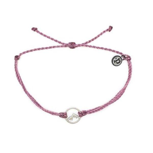 -Pura Vida Charm sierra Silver lavender Bracelet