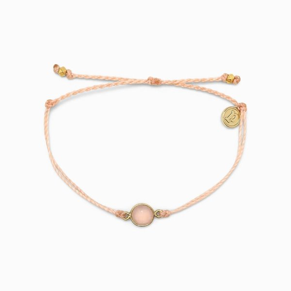 Pura Vida charm Rose Quartz blush Bracelet