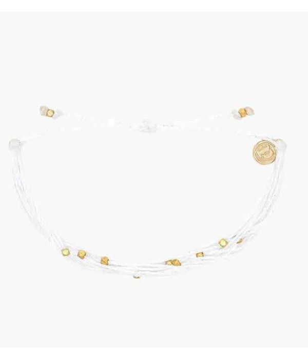 Pura Vida Classic Malibu Rose Gold White Bracelet by Pura Vida