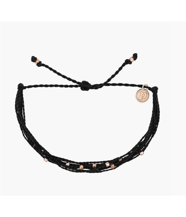 Pura Vida Classic Malibu Rose Gold Black Bracelet by Pura Vida