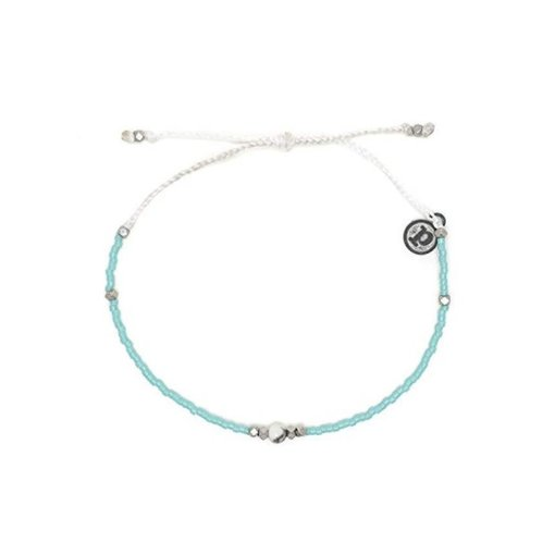 Pura Vida Pura Vida Seed Silver Gem & Tube howlite Bracelet