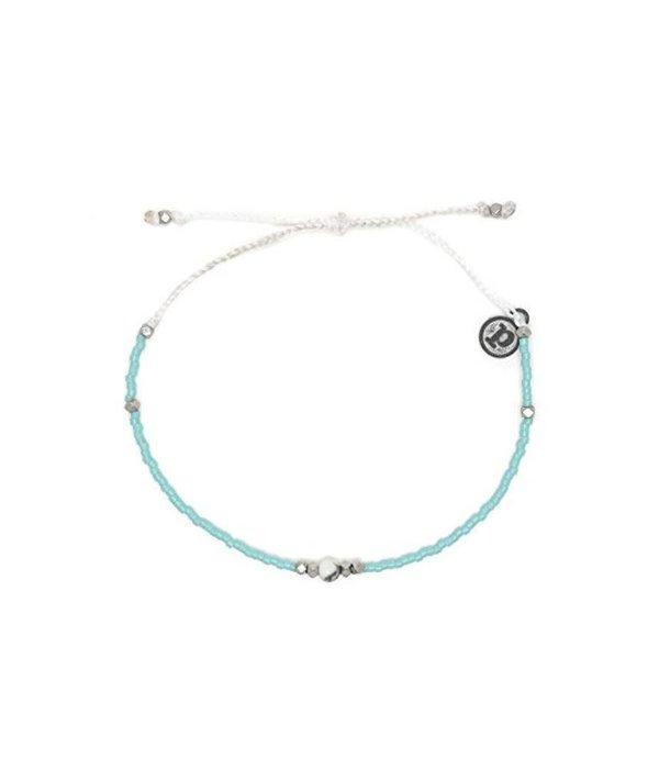 Pura Vida Seed Silver Gem & Tube howlite Bracelet by Pura Vida