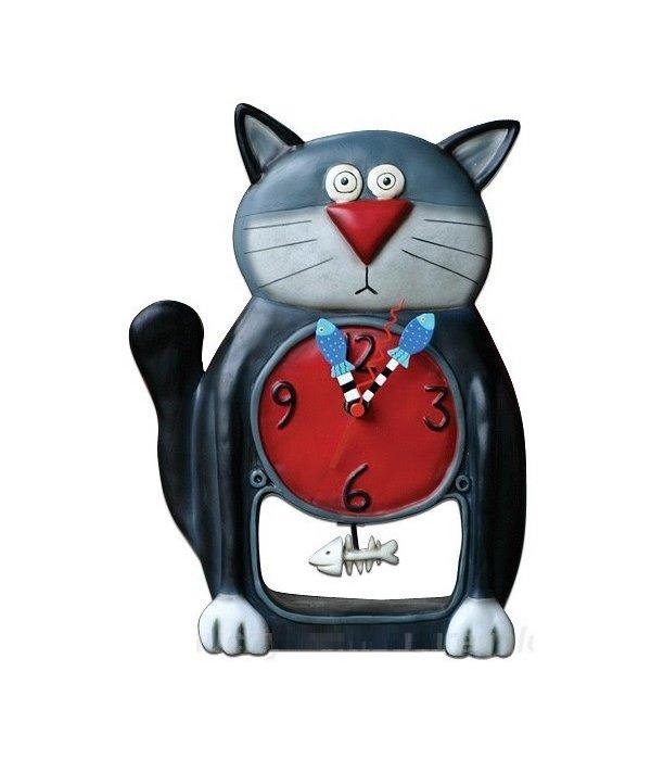 Allen Designs Allen Designs- Black Kitty Clock