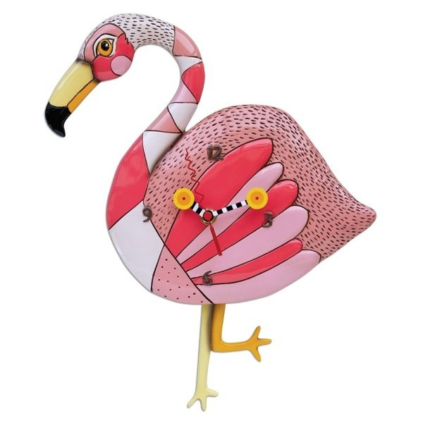 Crazy Legs Flamingo Clock