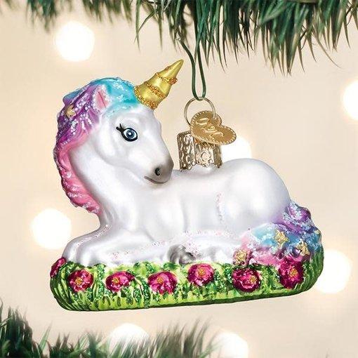 Old World Christmas Baby Unicorn Ornament