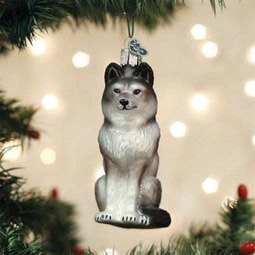Old World Christmas Sitting Wolf Ornament
