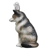 Old World Christmas- Sitting Wolf Ornament