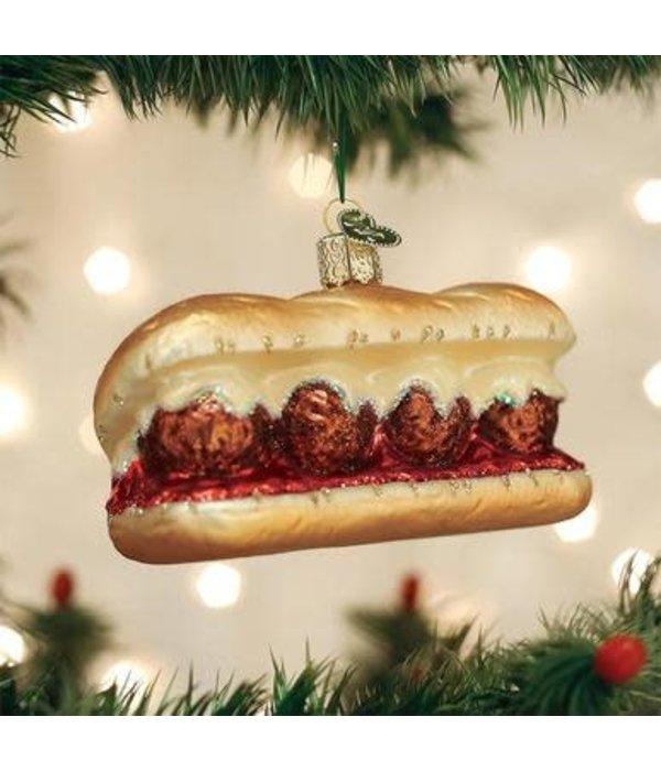 Old World Christmas- Meatball Sub Ornament