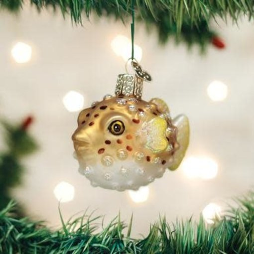 Old World Christmas Pufferfish Ornament