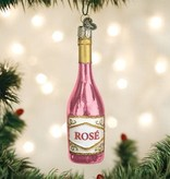 Old World Christmas- Rose Wine Ornament