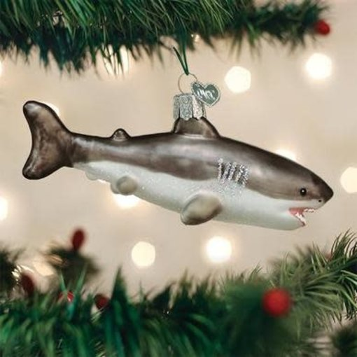 Old World Christmas Great White Shark Ornament