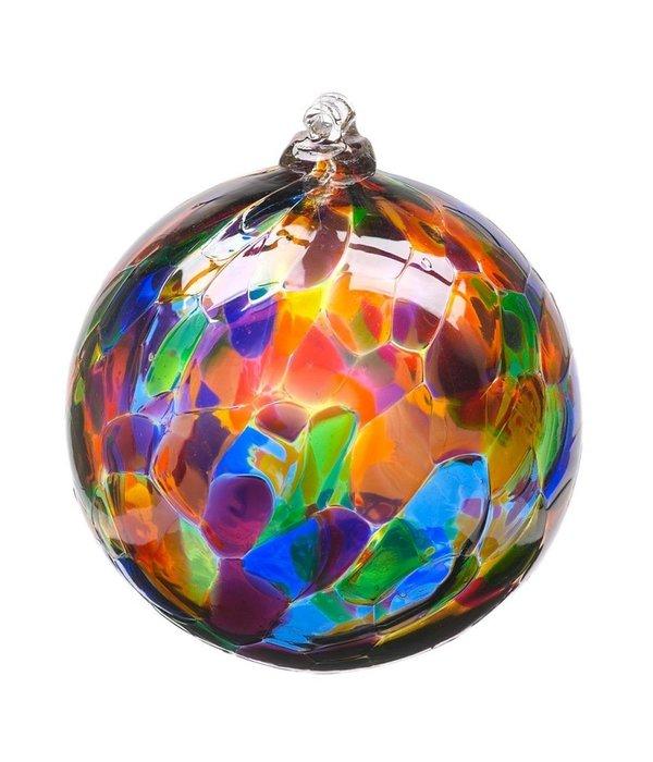 Kitras Glass Kitras Calico Glass Ball 3in