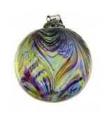 Kitras Glass Kitras Feather Glass Ball 3in