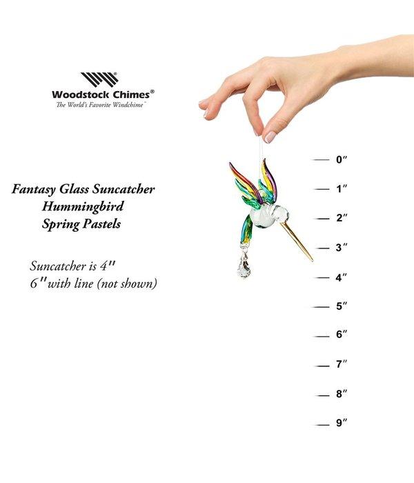 Crystal Pastel Hummingbird Suncatcher